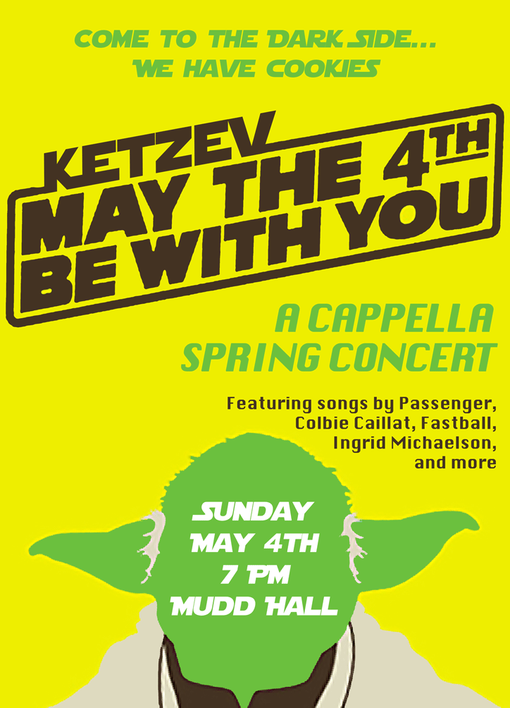 Ketzev Concert Poster - May 4th, 2014
